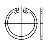 10X I 12x1 Sicherungsringe f/ür Bohrungen DIN 472 Edelstahl A2 10 St/ück